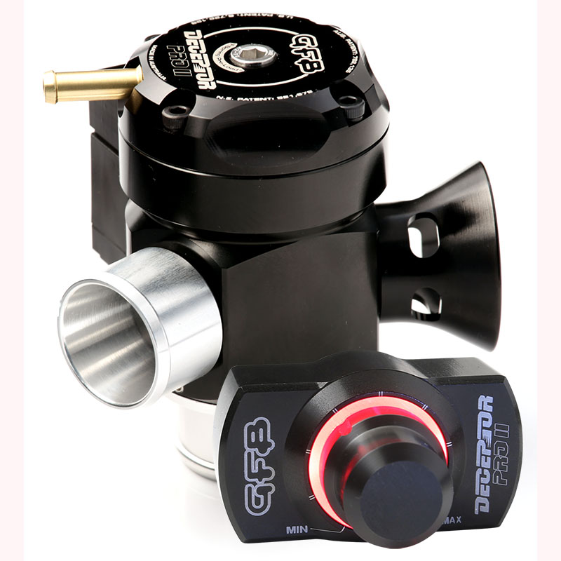 Deceptor Pro II TMS Universal (35mm inlet - 30mm outlet)motorised Blow off  valve or BOV with GFB TMS advantage  In cabin patented adjustable venting